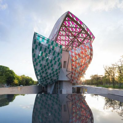 La Fondation Louis Vuitton.